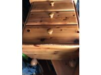 2 bedside solid pine cabinets delivery available