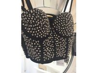 Studded bustier top