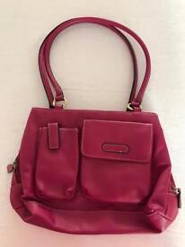 Lovely pink leather handbag