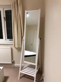 White IKEA full length standing mirror