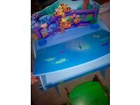 Winnie the Pooh lift top desk and stool