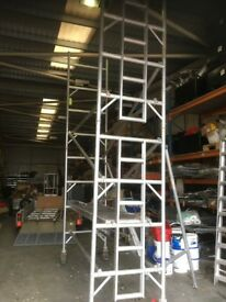 """Loyal Mobile Tower 22 feet High x 8 feet Wide x 33"""" Deep 2 outriggers and 2 Platforms GOOD CONDITION"""