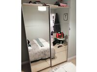 Selling my double mirror sliding wardrobe great condition