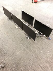18 PC monitors mixed brands for sale no cables no mains just monitor