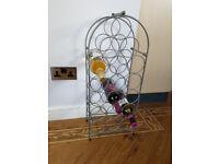 Metal 18-bottle wine rack