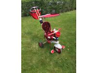 Little tikes 4 in 1 trike in red with canopy