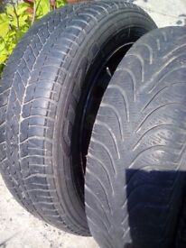 14 inch wheels and tyres for Peugeot 206
