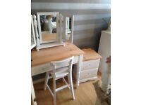 Dressing table x2 bed side tables