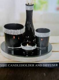 New in box candleholder and diffuser can deliver