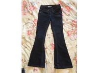 Ladies Size 4 Petite Dorothy Perkins Bootflare dark denim jeans