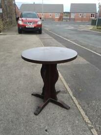 Pub style round table