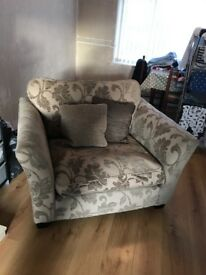 3 seater sofa and an oversized chair