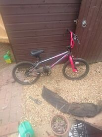 Girl's black and pink bmx free to a good home
