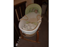 Baby Moses Basket Crib Cot Very Good Condtion Toy R Us