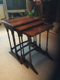 Mahogany Nest of Tables - good condition.