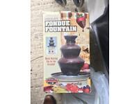 Fondue chocolate fountain