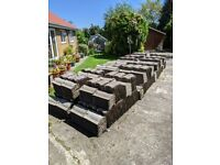 Concrete roof tiles, approx 2000