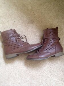 Madden Girl size 8 perforated ankle boots.