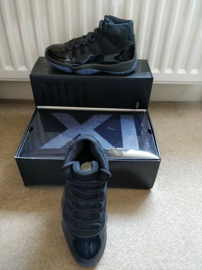 Nike Air Jordan 11 Retro Cap And Gown Triple Black Uk 75