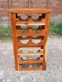 Jali Sheesham Hardwood Indian Solid Wood Wine Rack Holder Cabinet for 12 Bottles