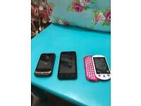 Job lot 3 old mobile phones