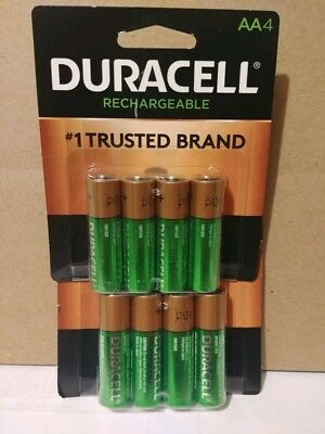 8 Count Duracell AA Rechargeable Batteries