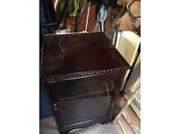 Tv Corner Unit and Steroe Unit (mahogany) lovely condition