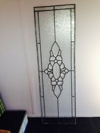 leaded side light glass panel