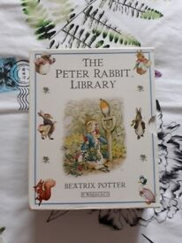 'The Peter Rabbit Library', 10 book box-set of stories by Beatrix Potter, illustrated in colour.