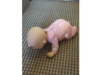 Baby Annabelle crawling doll