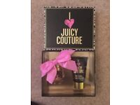 Juicy Couture Gift Set. Brand new unopened. 30ml Parfum spray . 125ml shimmering body lotion