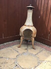 REDUCED ....CAST IRON CHIMINEA EXTRA LARGE