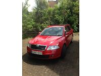 Red Skoda Octavia VRS Estate Full service history Black Sports Seats Alloys AC Two owners from new