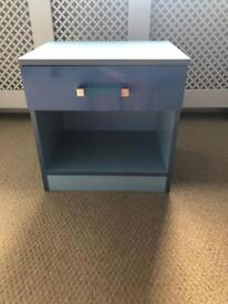 Boys blue gloss bedroom unit drawer