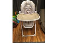 Cream highchair