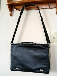 DANIER Leather of Canada Black Genuine Leather Messenger Crossbody Bag Laptop Unisex mint