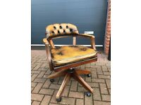 Tan leather desk chair. Great condition.