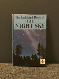 Rare vintage retro THE NIGHT SKY 1965 1st edition LADYBIRD HB BOOK Unclipped 2,6 Net 60s SDHC