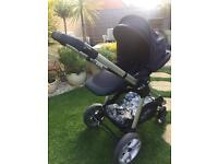 Apple icandy pear 2 pushchair & raincover