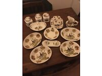 Collection of China tableware showing game birds,