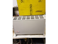 electric heater with heat setting freestanding in good working used condition