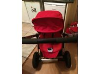 Maxi Cosi Mura 3 wheel base, carry cot, pushchair, car seat