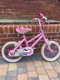 Girls princess 14inch bike