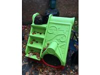 Slide and playhouse combined