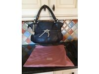 Large black radley bag with dog tag & dustbag excellent condition