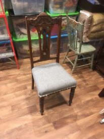 Antique Oak Carved Chair