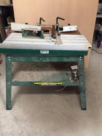 Record Power Router Table