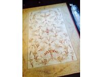LAURA ASHLEY MALMAISON GOLD TRADITIONAL COTTON AND WOOL RUG