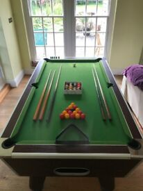 7ft Pool Table - Slate Bed. With Cues, Balls, Chalk and Triangle - £400 ono