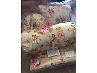 Brand new double bedding set with cushions
